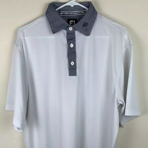 FootJoy Men's Sz Medium White Golf Polo Shirt